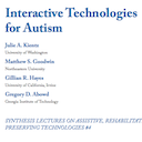 Interactive Technologies for Autism, New Book Co-Authored by Hayes, Published Online!
